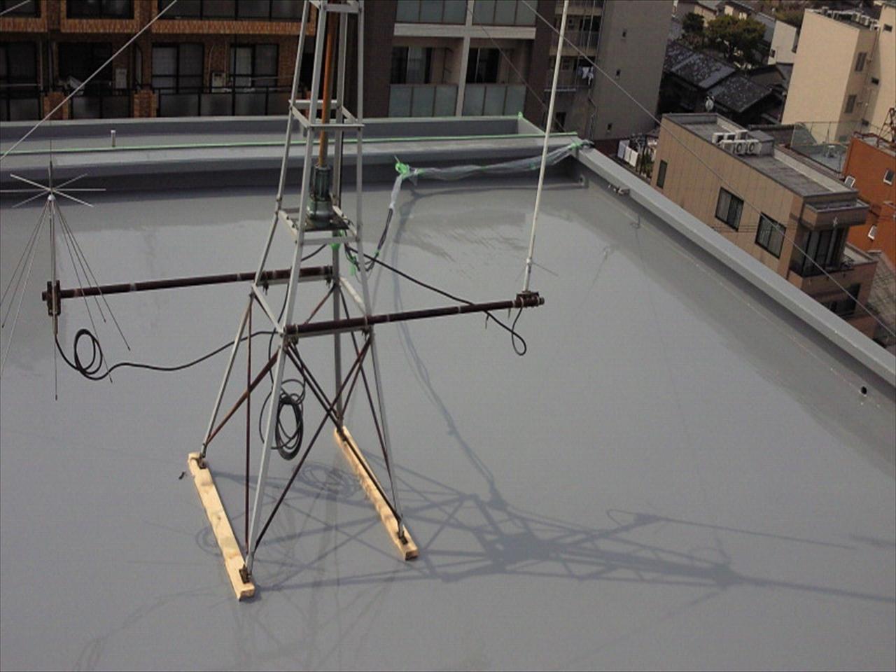 上京区Bマンション防水工事の施工後写真その1