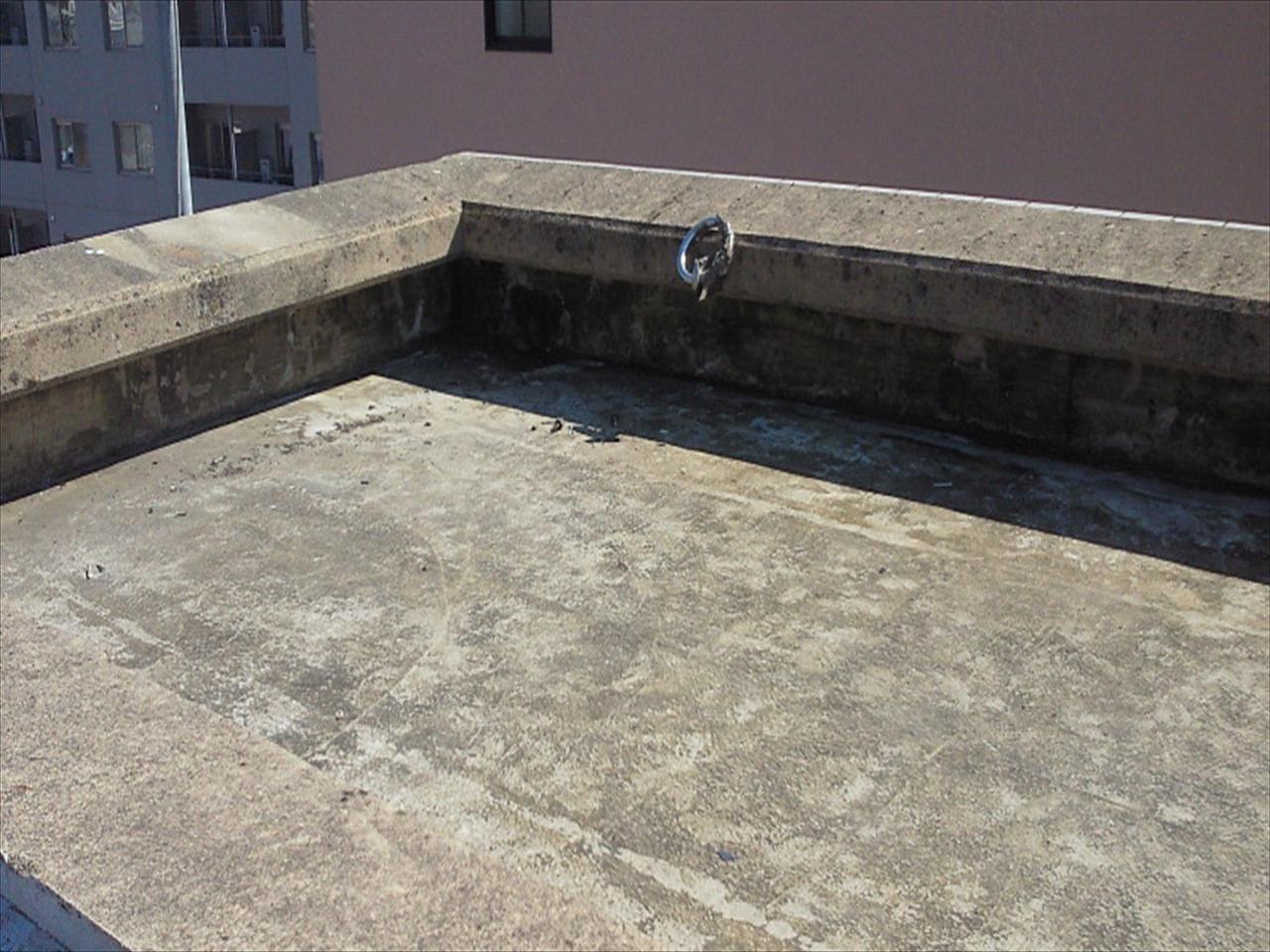 上京区Bマンション防水工事の施工前写真その2