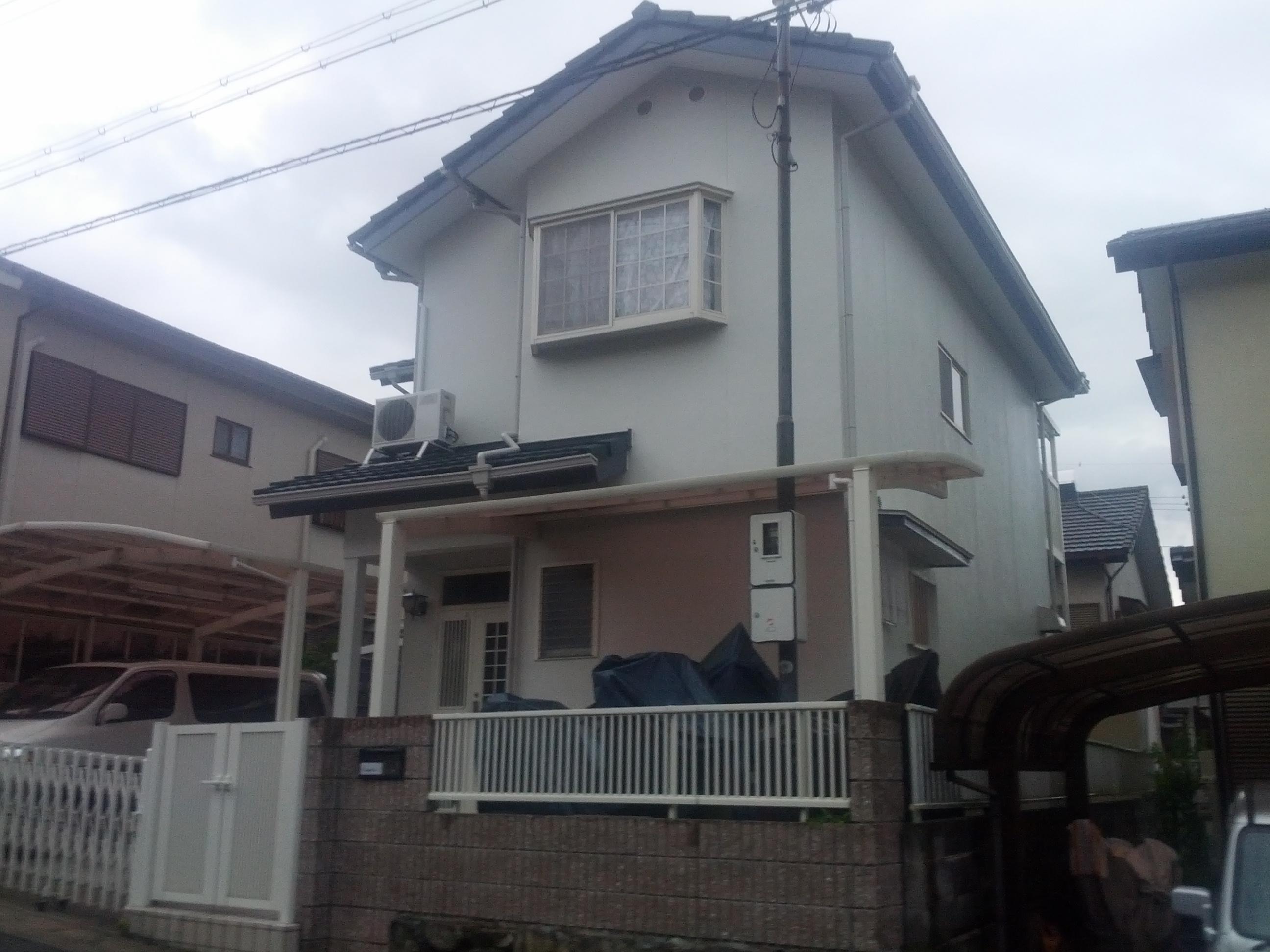 西京区宮越様邸外壁・屋根塗り替え工事の施工後写真その2