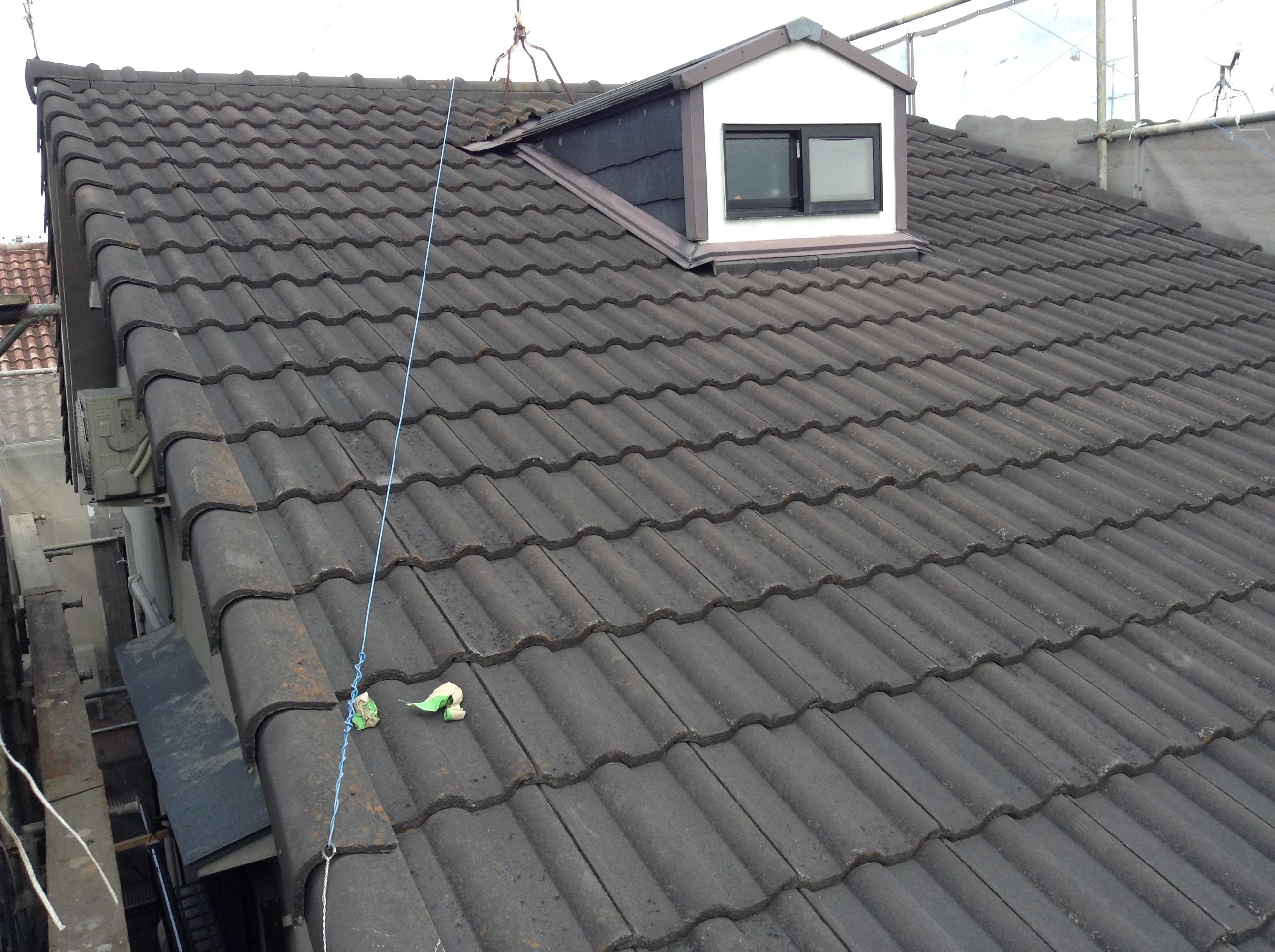 向日市尾花様邸外壁・屋根塗り替え工事の施工前写真その2