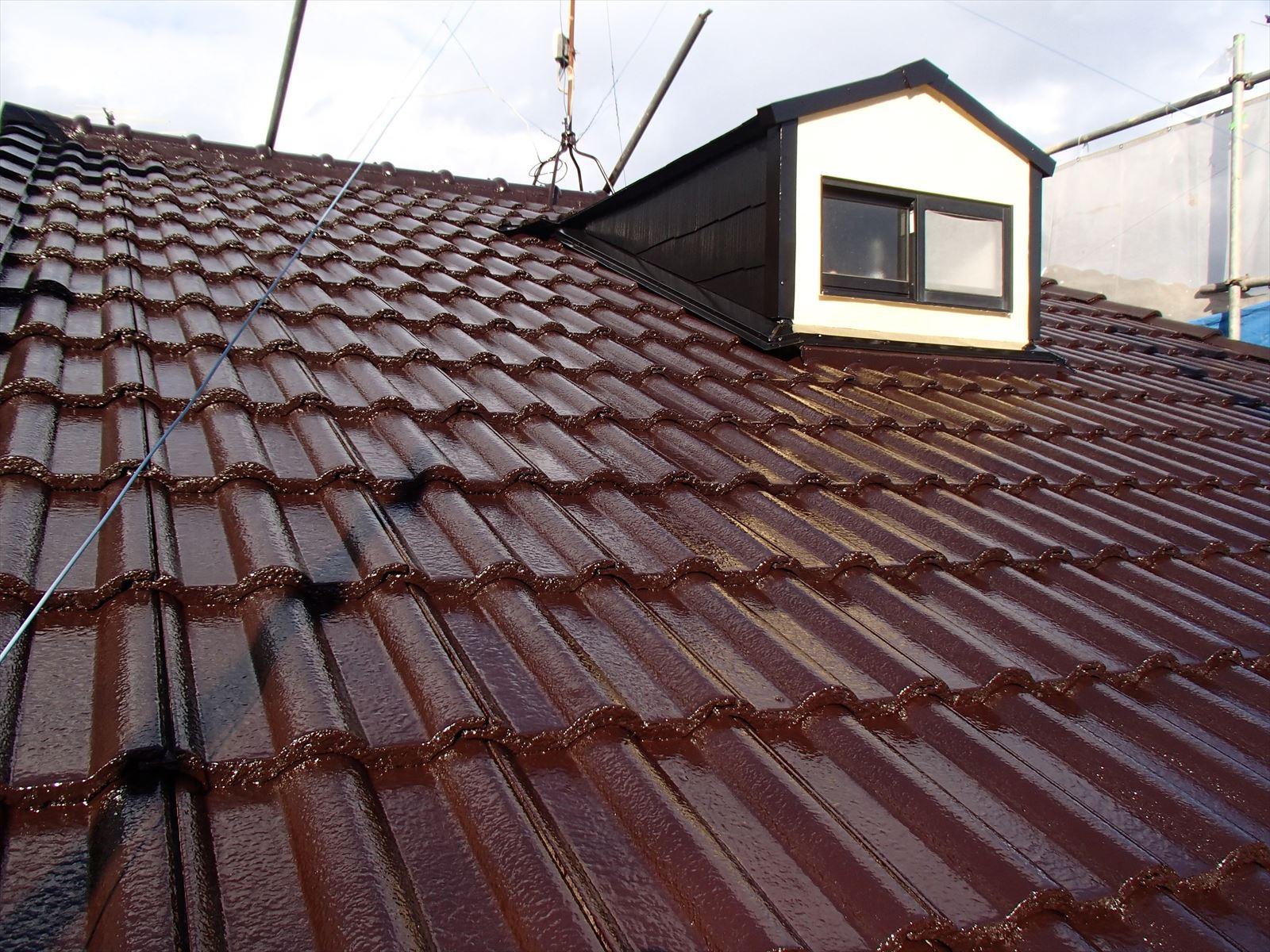 向日市尾花様邸外壁・屋根塗り替え工事の施工後写真その2