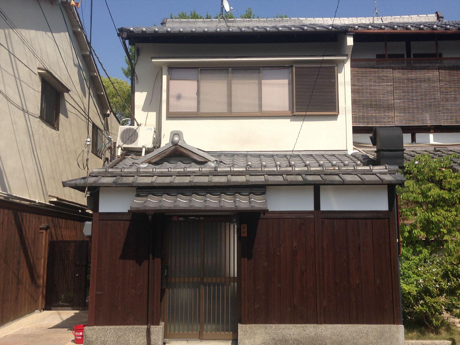 伏見区米井様邸外壁塗り替え工事の施工後写真その1