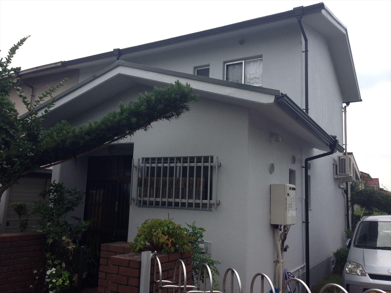 右京区竹中様邸外壁・屋根塗り替え工事の施工後写真その1