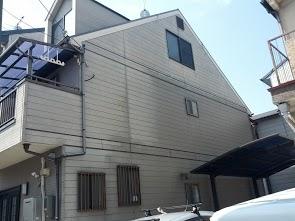 南区松澤様邸外壁塗り替え工事の施工前写真その2