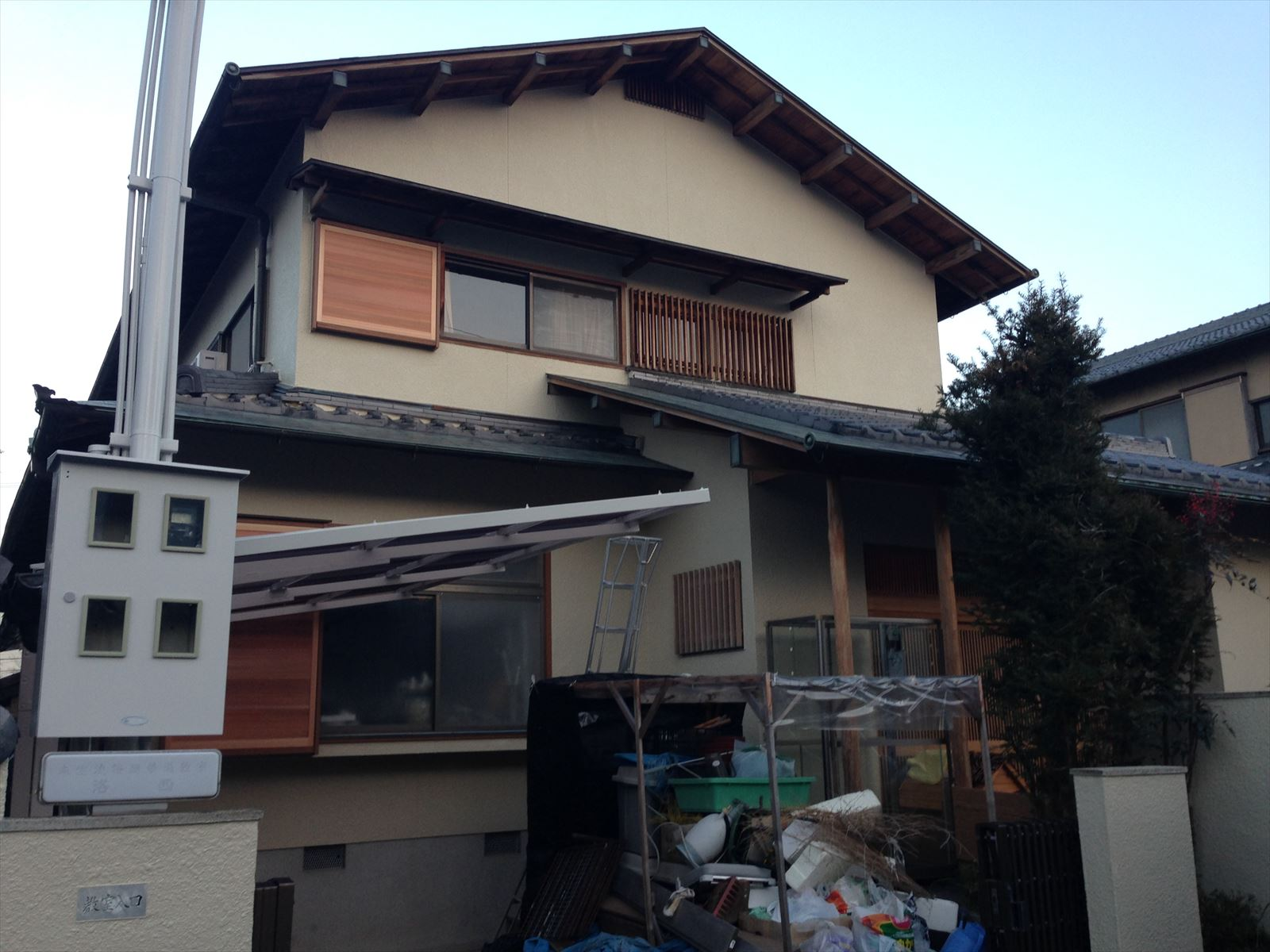 西京区藤井様邸外壁塗り替え工事の施工後写真その1