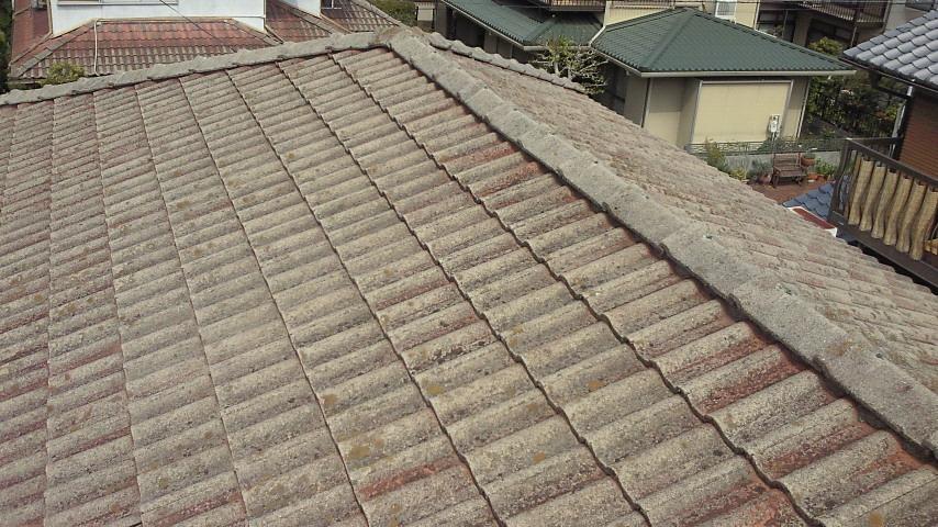 西京区水野様邸外壁・屋根塗り替え工事の施工前写真その1