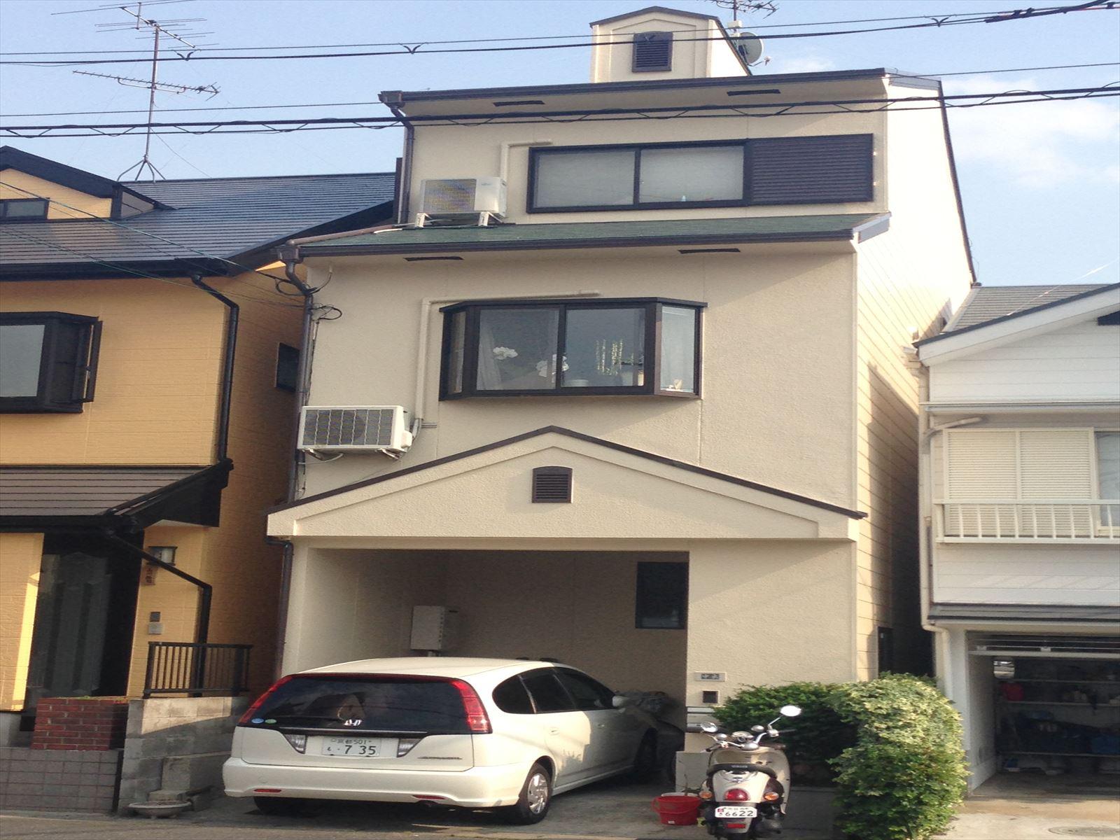 向日市中出様邸外壁・屋根塗装工事の施工後写真その1