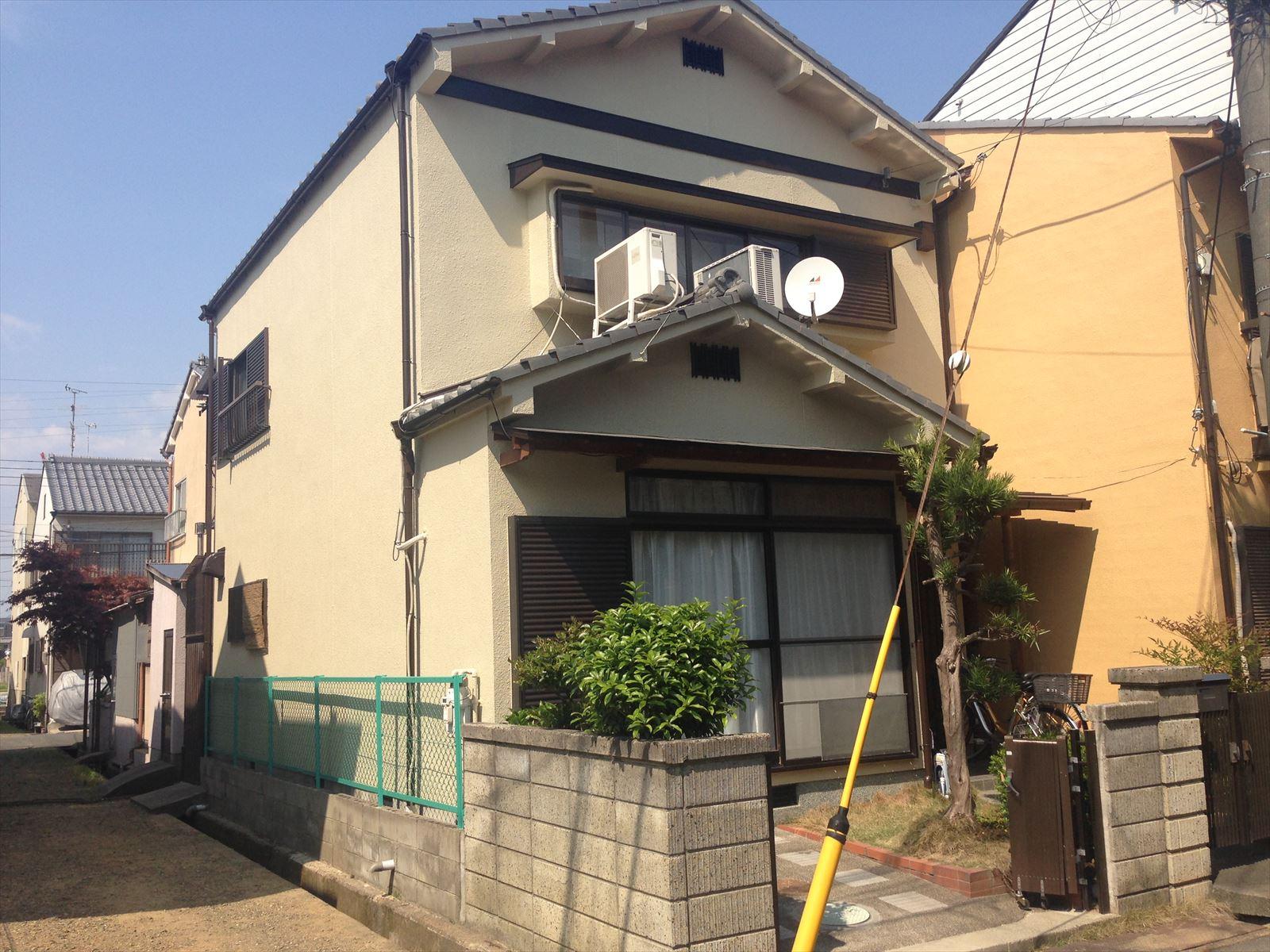 向日市中田様邸外壁塗り替え工事の施工後写真その1