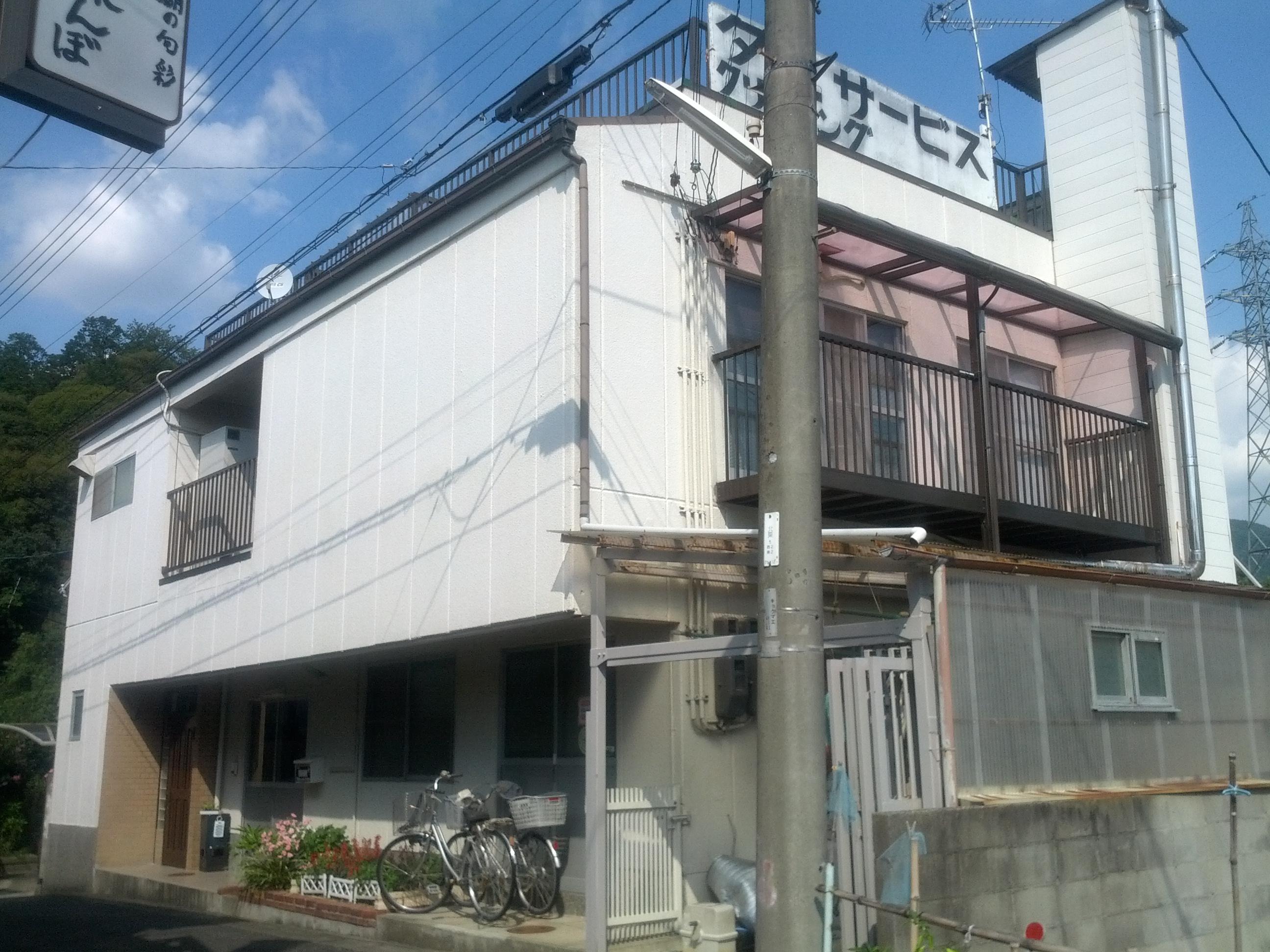 伏見区谷坂様邸外壁塗り替え工事の施工前写真その1