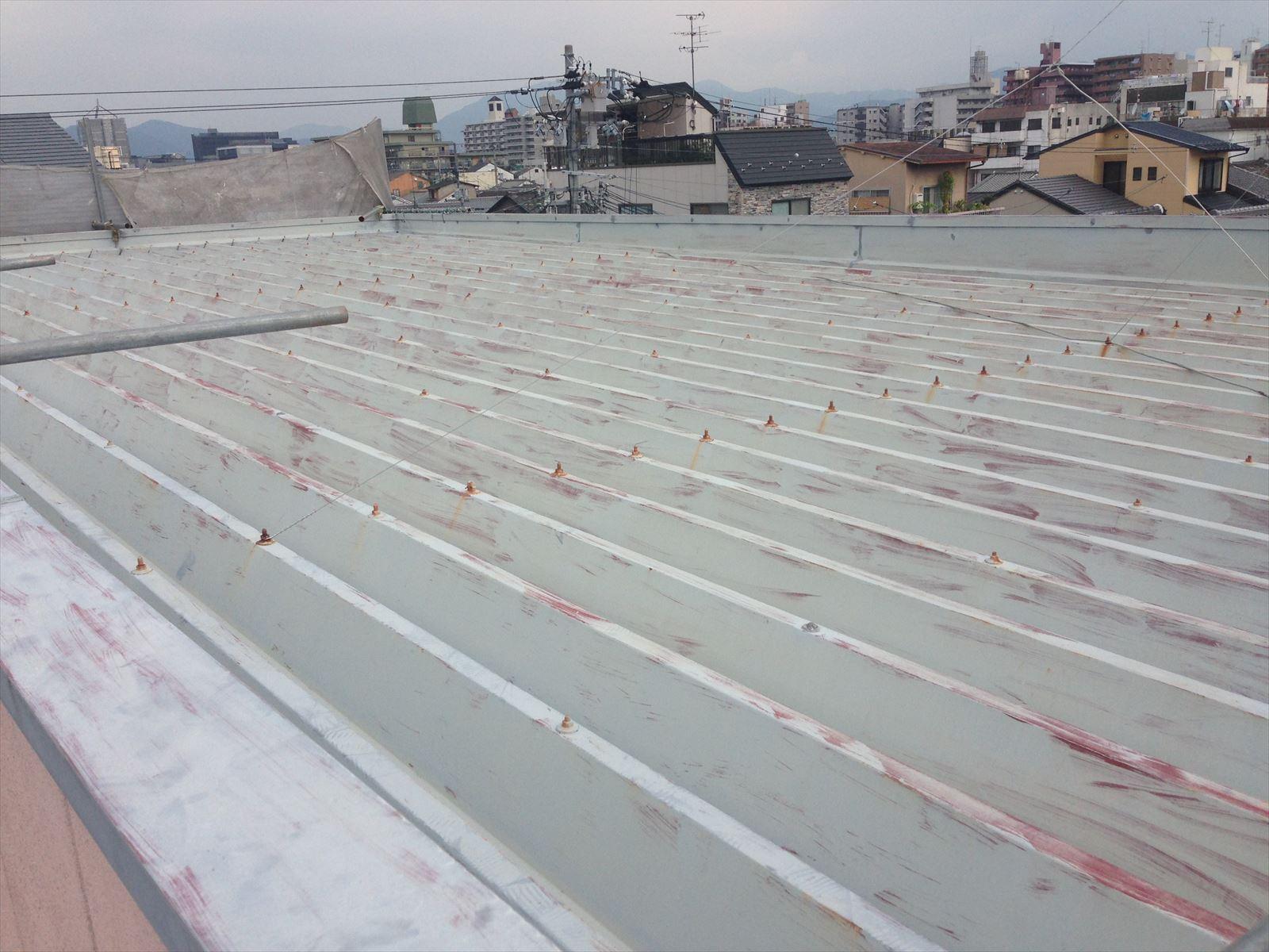 下京区守野様邸外壁・屋根塗り工事の施工前写真その1