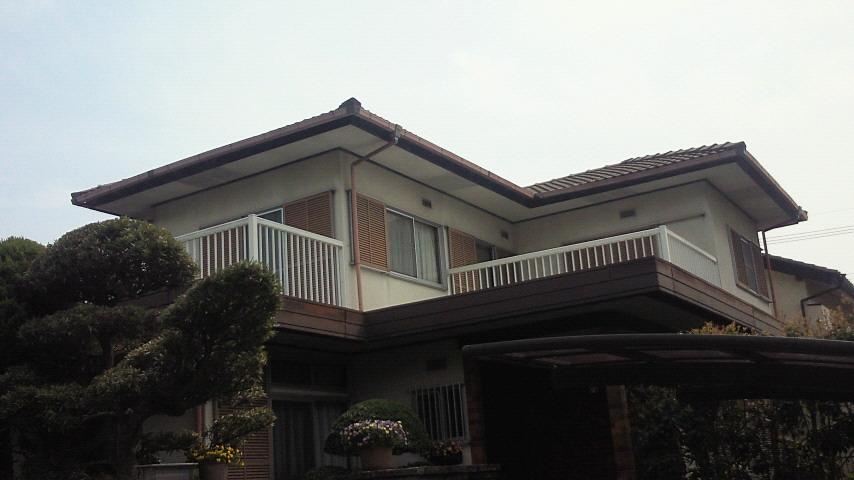 西京区水野様邸外壁・屋根塗り替え工事の施工前写真その2