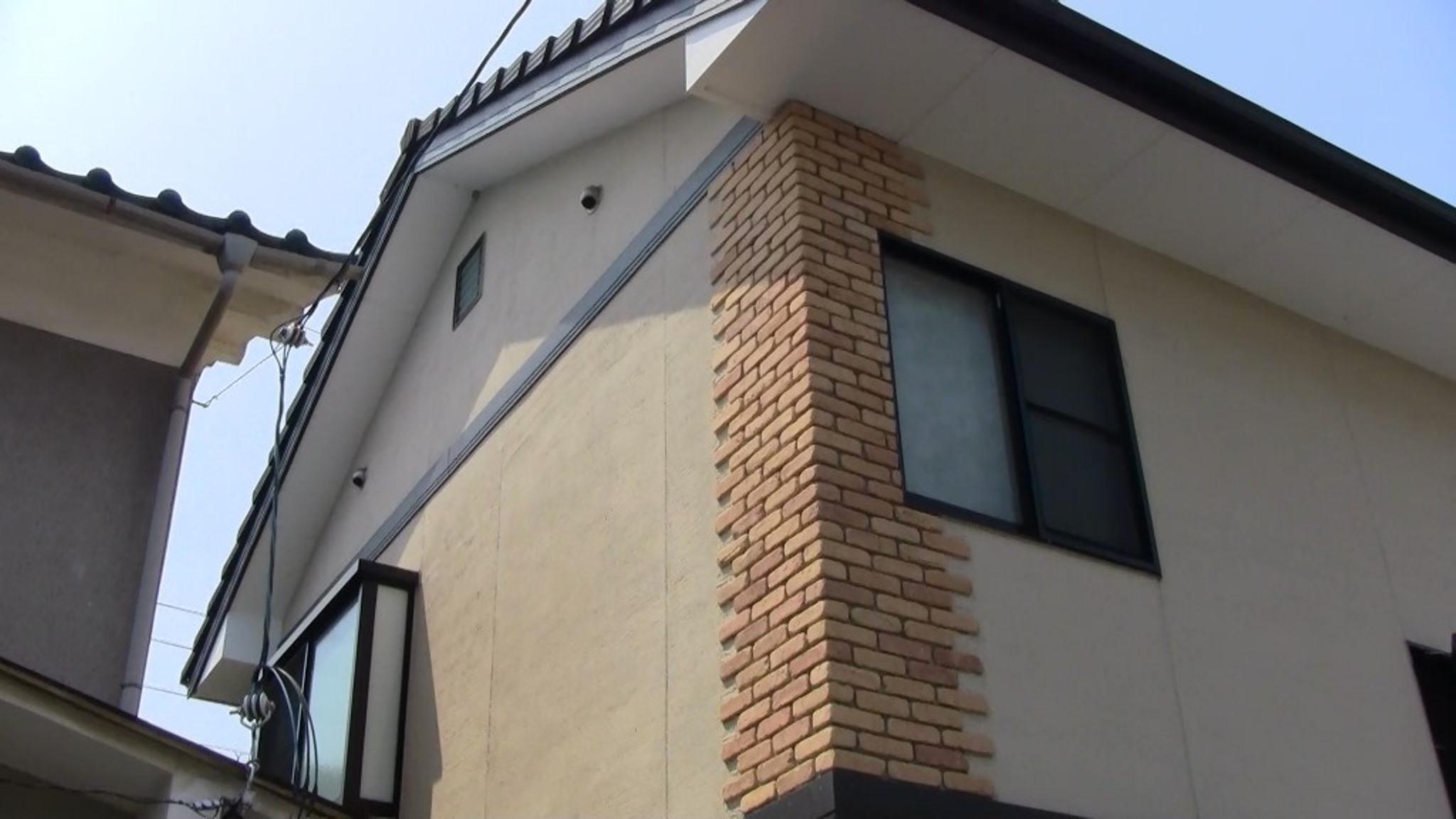 長岡京市若林様邸外壁・屋根塗り替え工事の施工前写真その1