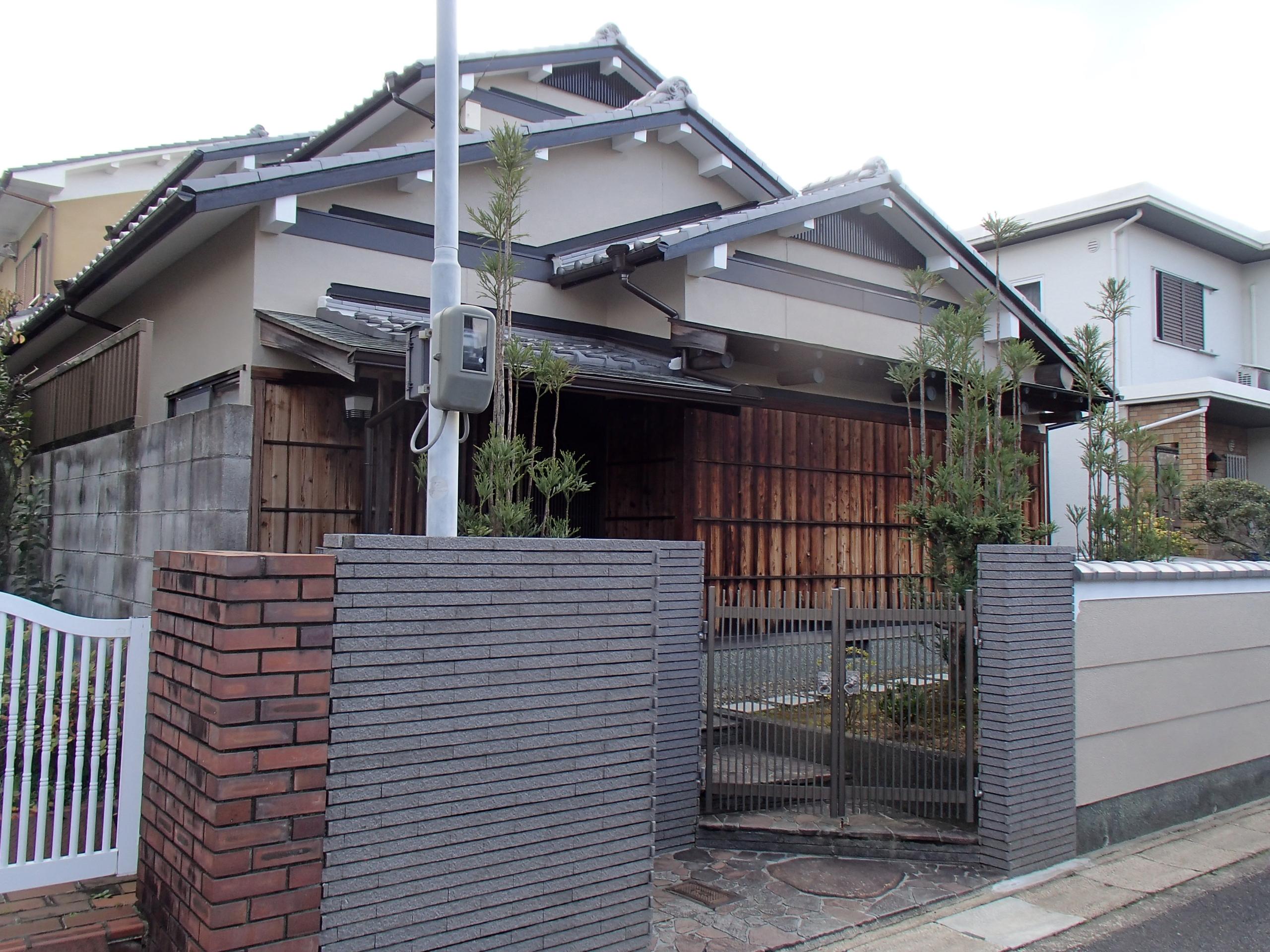 西京区前田様邸外壁塗り替え工事の施工後写真その1