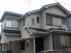 伏見区中田様邸外壁塗り替え工事の施工前写真その1
