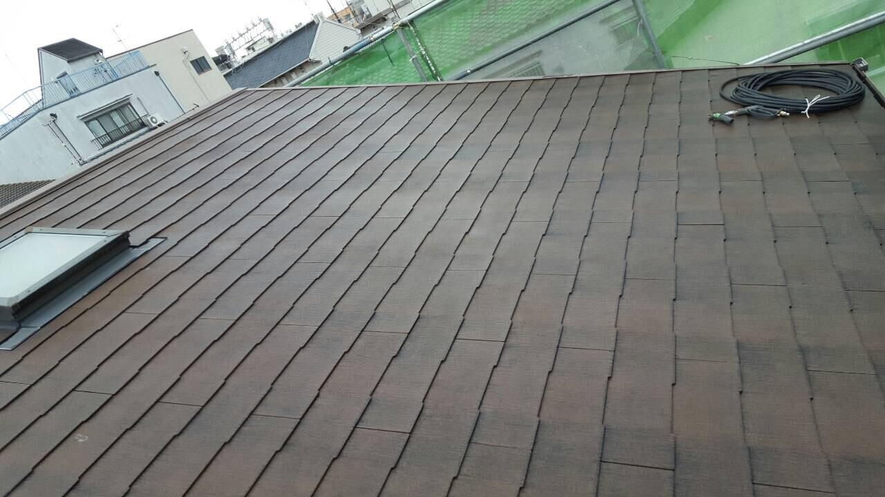 伏見区大山様邸外壁・屋根塗り替え工事の施工前写真その2