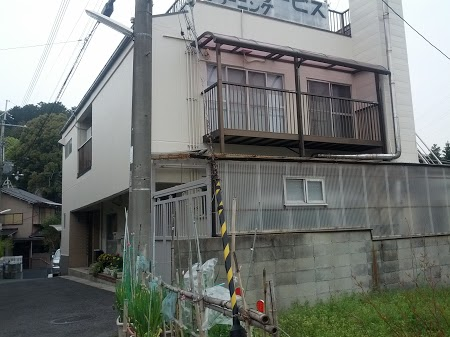 伏見区谷坂様邸外壁塗り替え工事の施工後写真その1