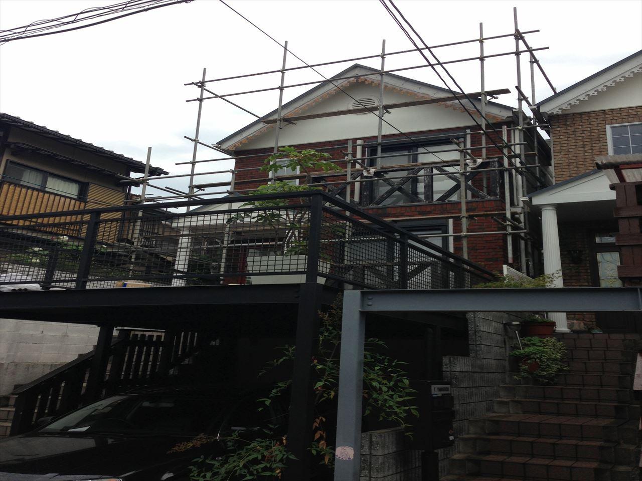 伏見区澤井様邸外壁・屋根塗り替え工事の施工前写真その1