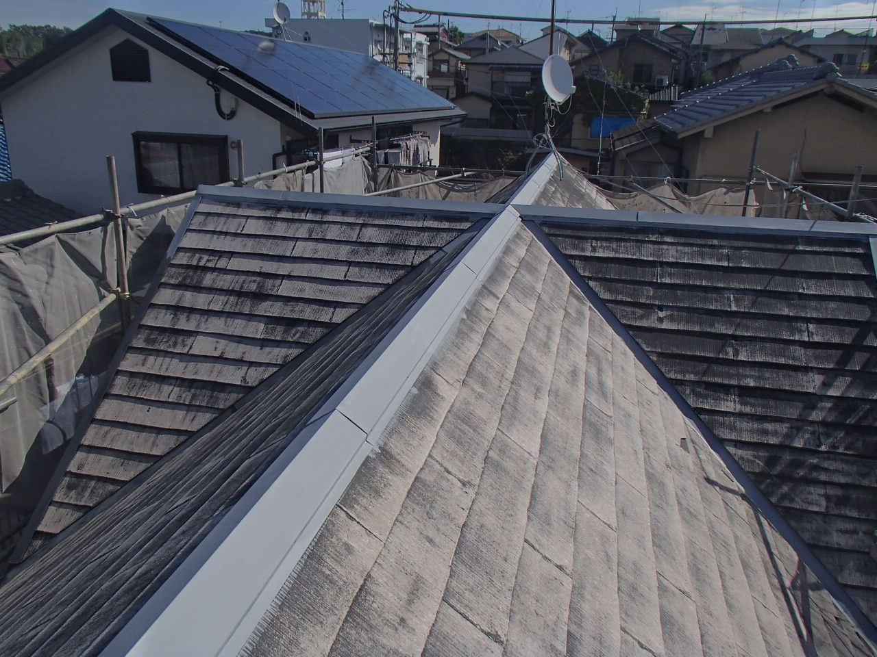伏見区澤井様邸外壁・屋根塗り替え工事の施工前写真その2