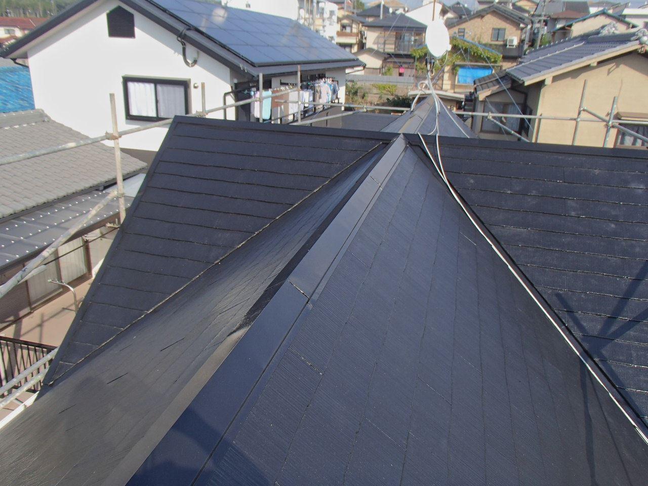 伏見区澤井様邸外壁・屋根塗り替え工事の施工後写真その2