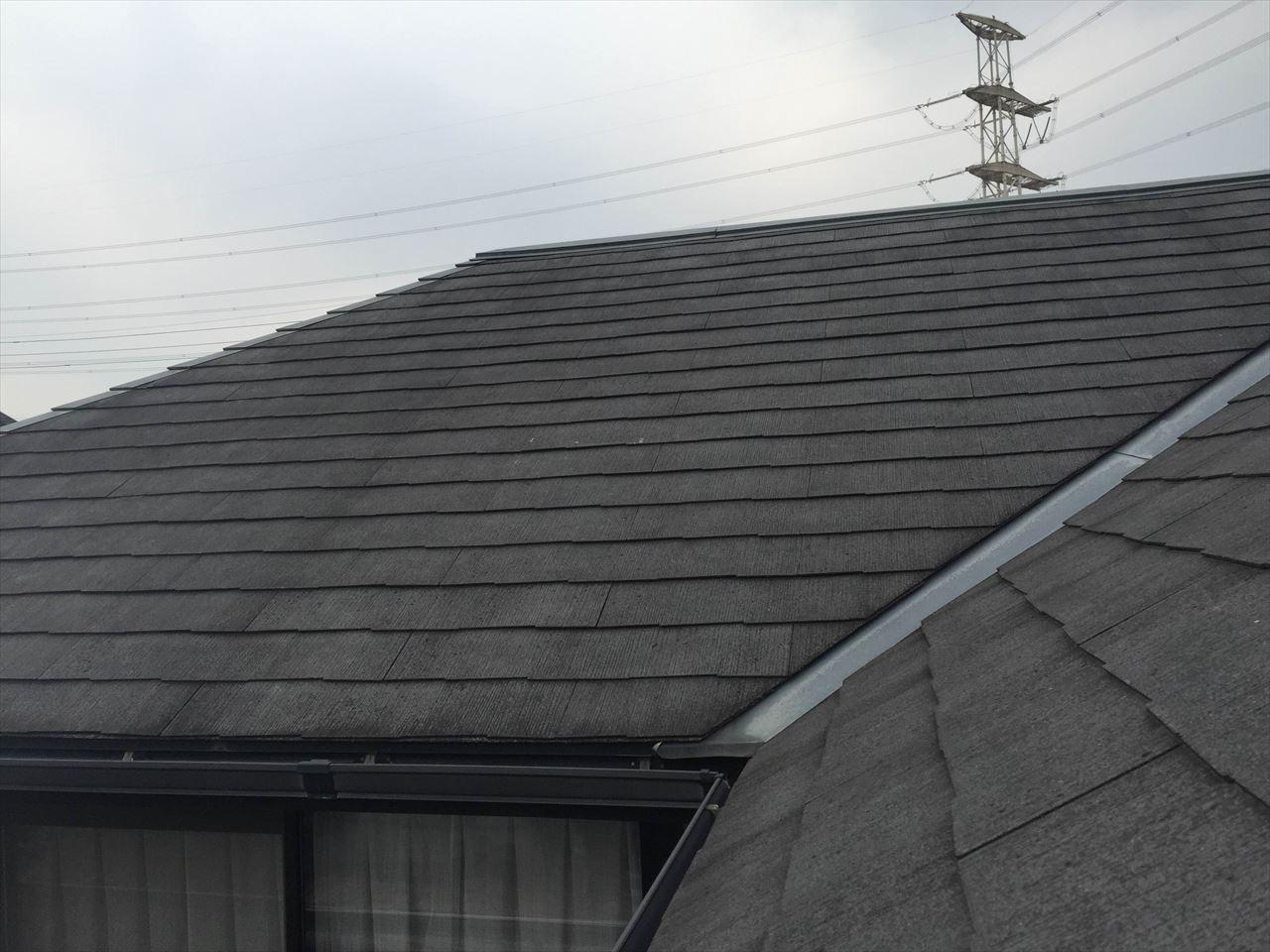 精華町吉國様邸外壁・屋根塗り替え工事の施工前写真その1