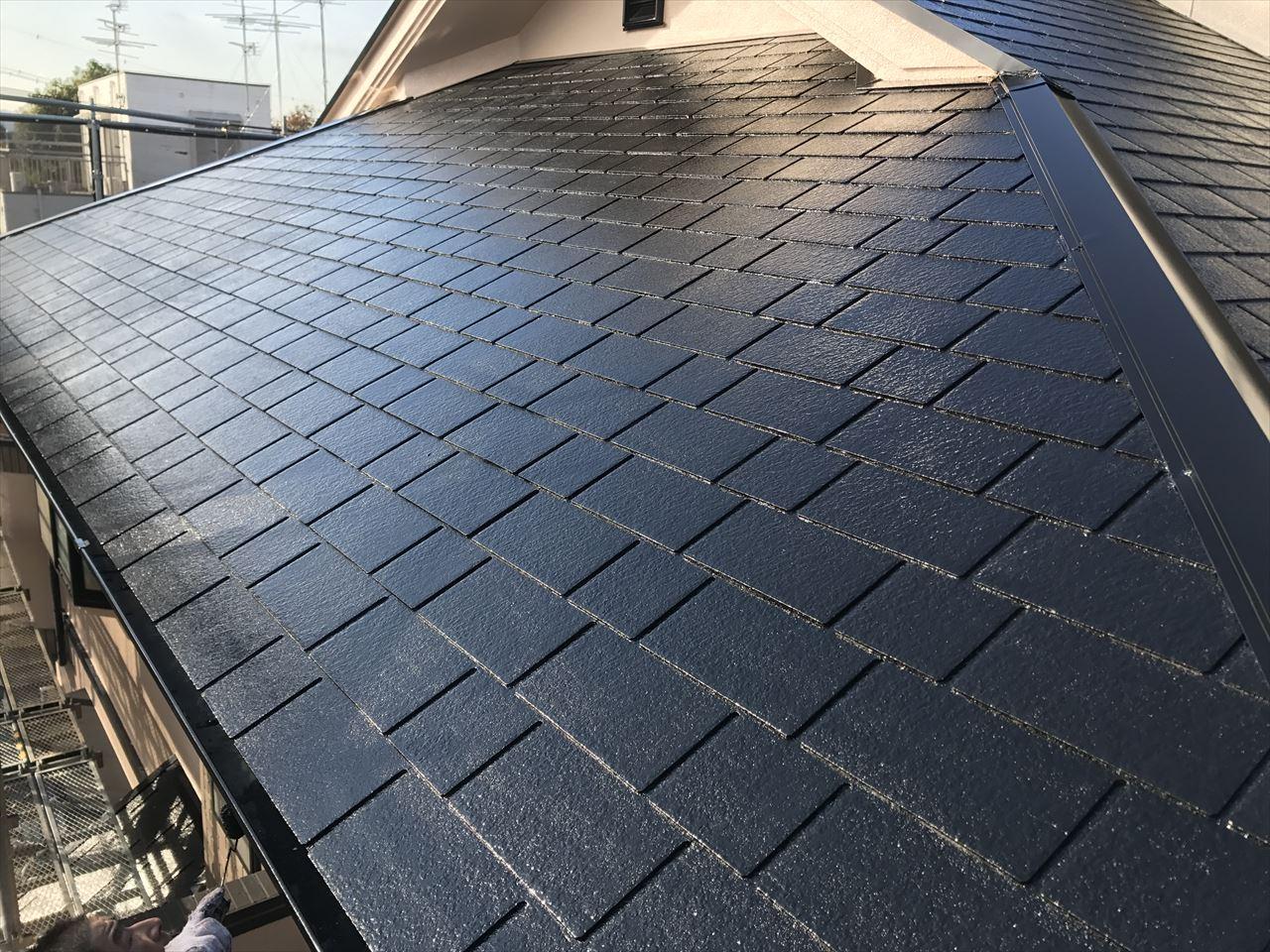 長岡京市辻様邸外壁・屋根塗り替え工事の施工後写真その1