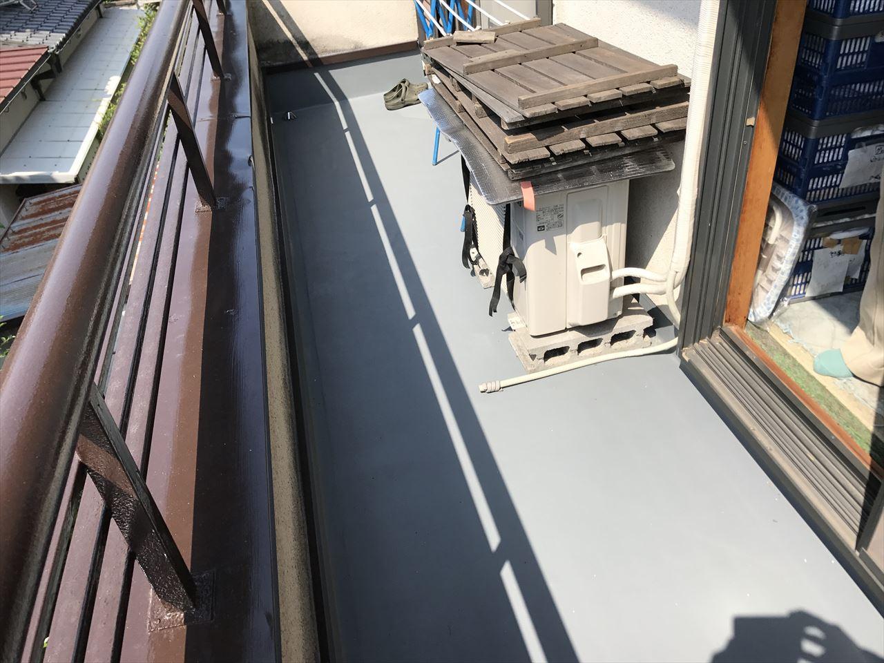 西京区中道様邸ベランダ防水・屋根張り替え工事の施工後写真その1