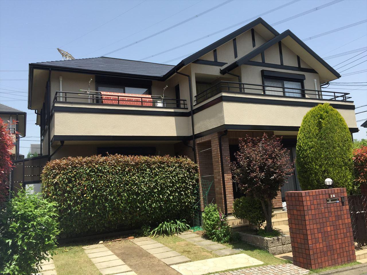 精華町吉國様邸外壁・屋根塗り替え工事の施工後写真その2