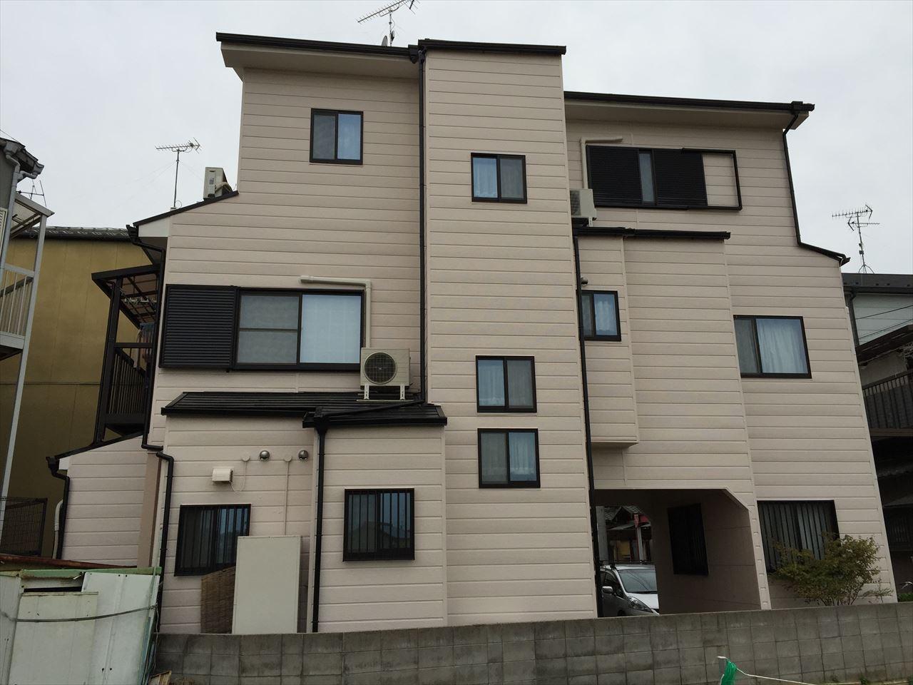 伏見区松田様邸外壁・屋根塗り替え工事の施工後写真その1