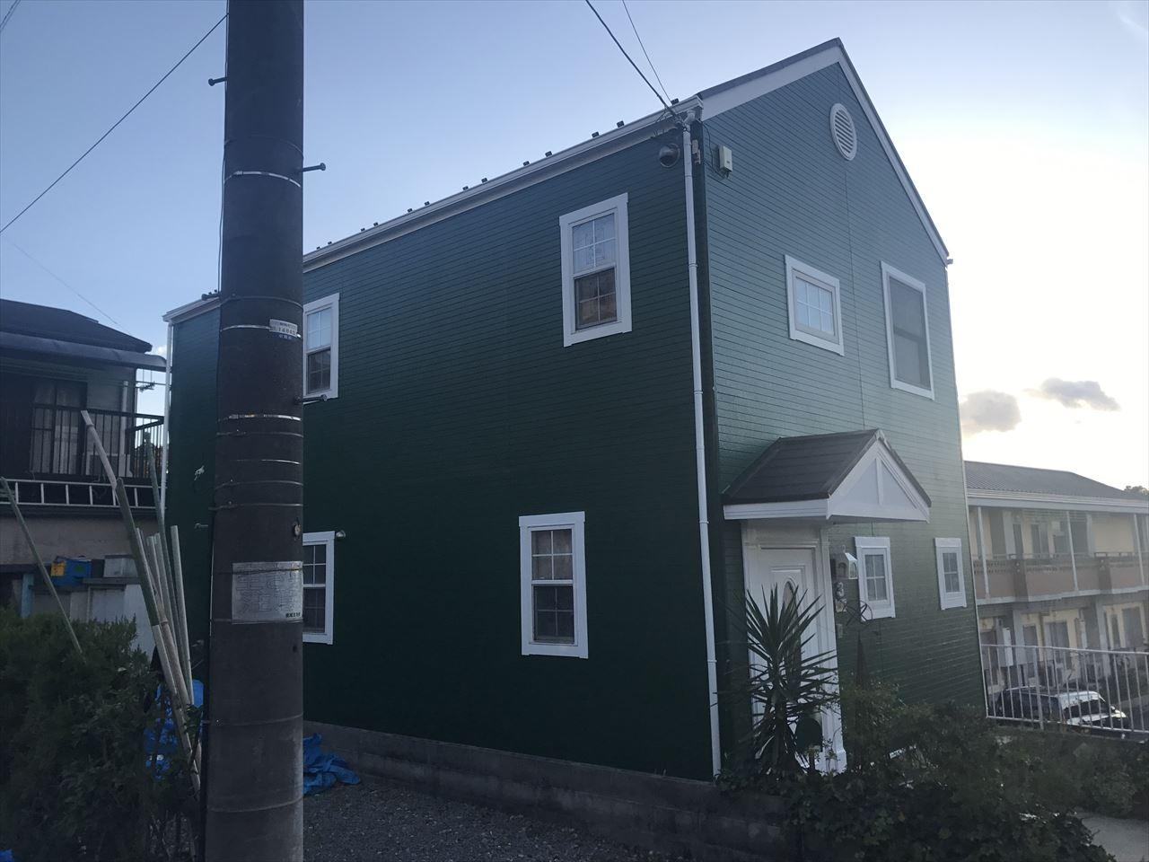 伏見区須釜様邸外壁・屋根塗り替え工事の施工後写真その2
