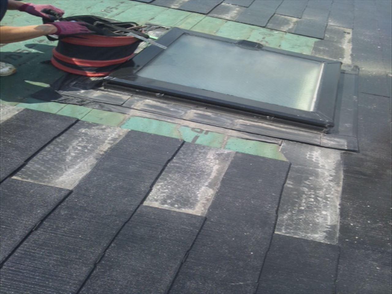 左京区Hマンション天窓雨漏りの施工前写真その2