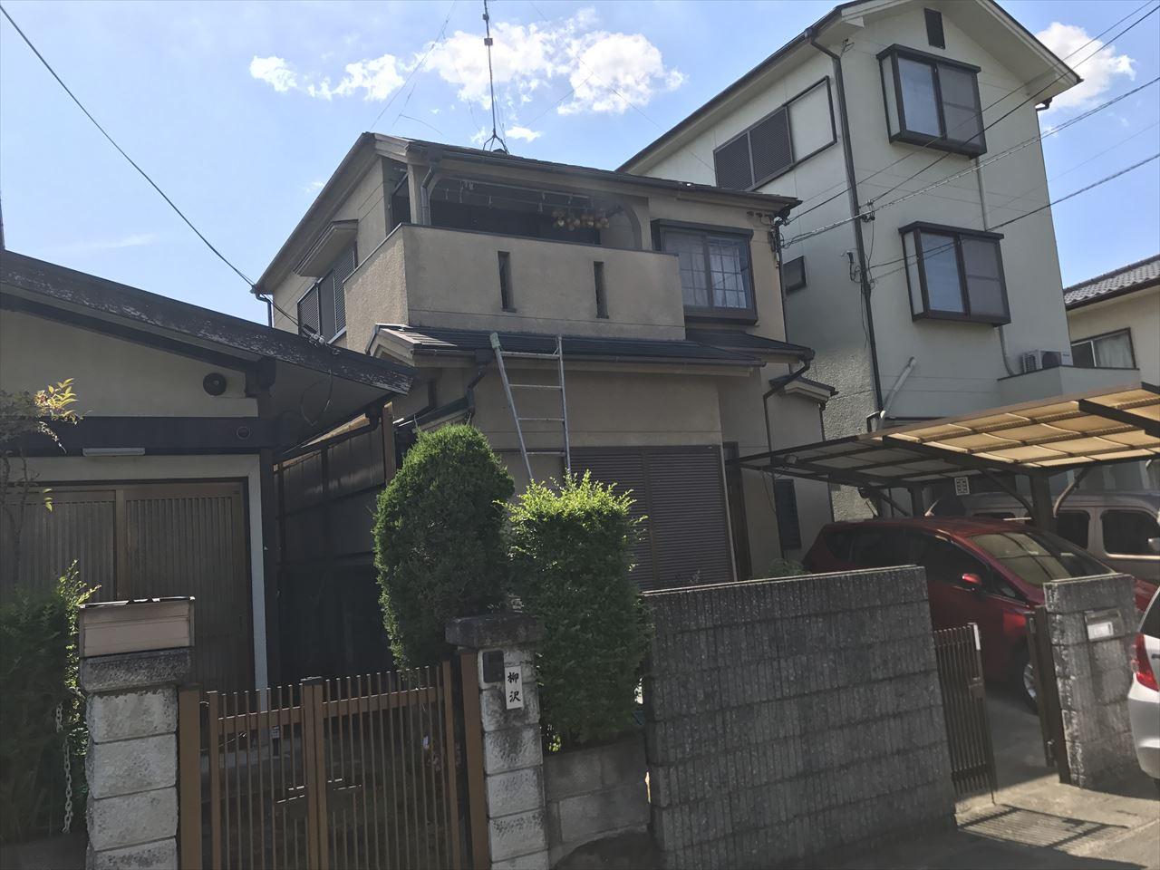 長岡京市井口様邸外壁・屋根塗り替え工事の施工前写真その2