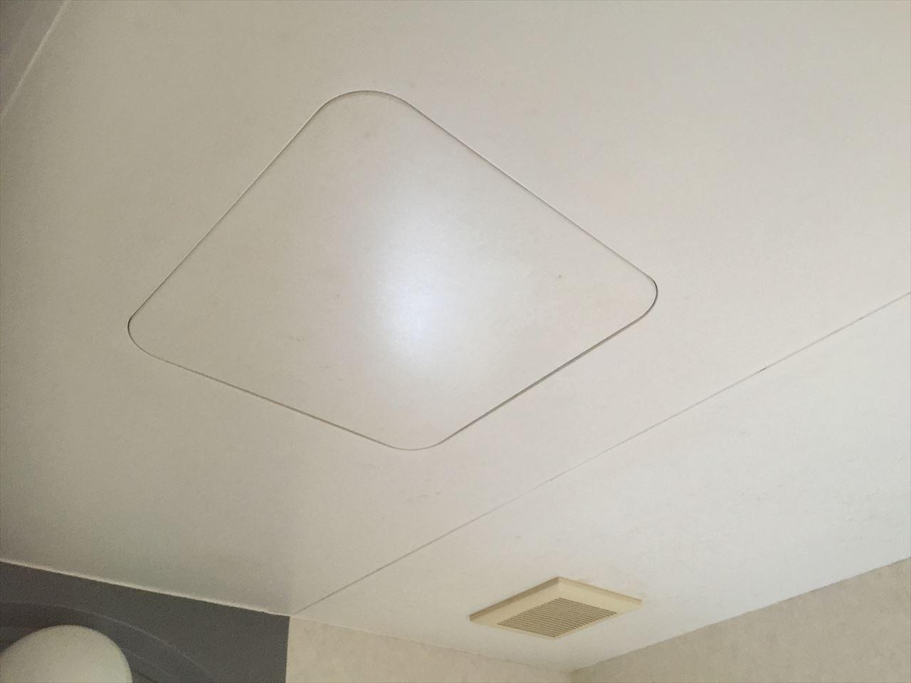 南区T邸お風呂場天井汚れ落としの施工後写真その1