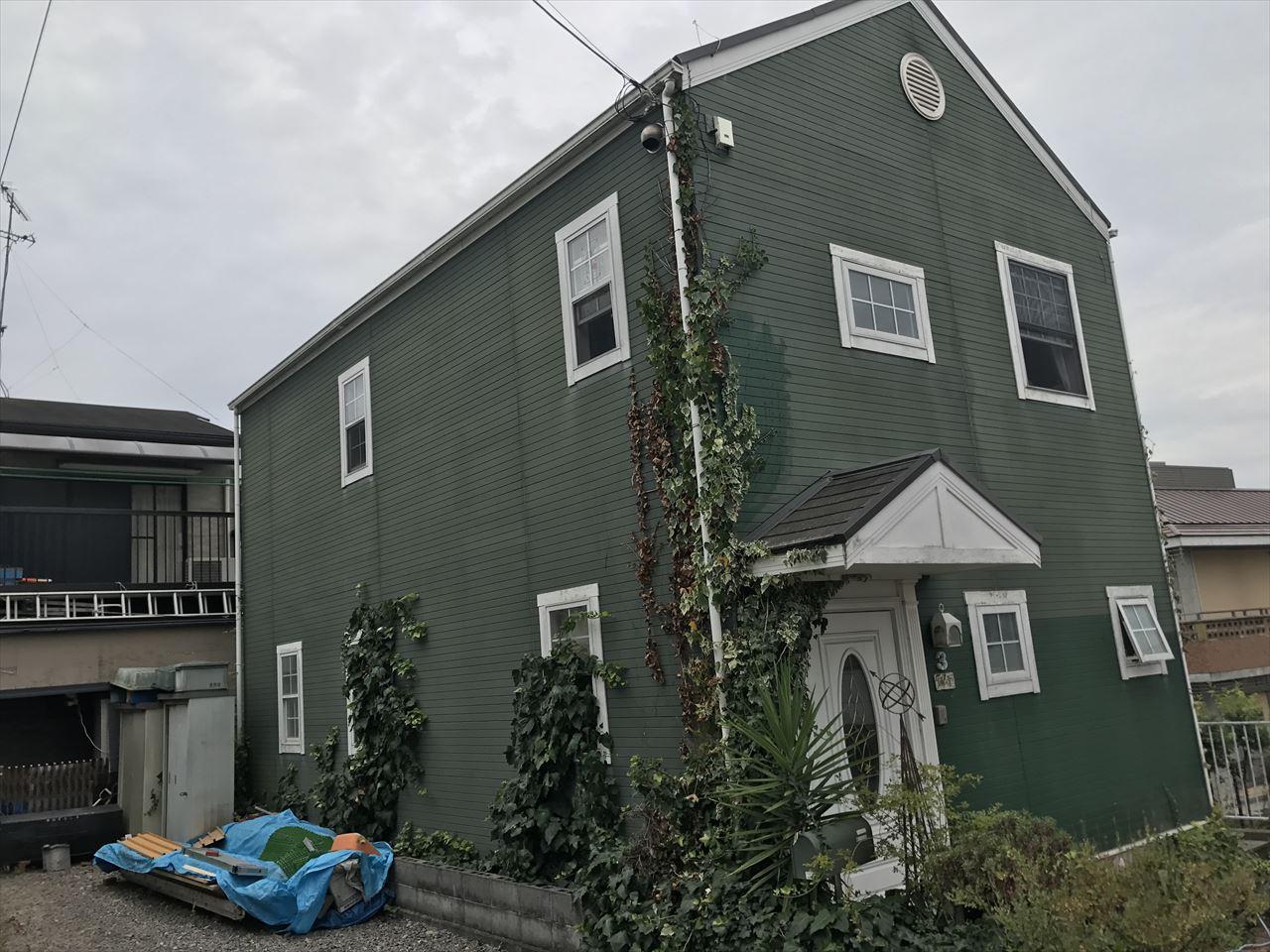 伏見区須釜様邸外壁・屋根塗り替え工事の施工前写真その2
