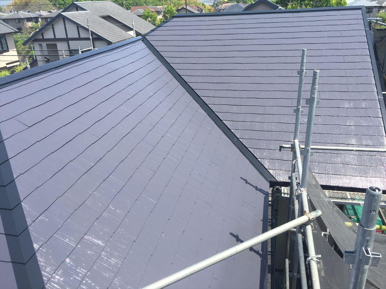 精華町吉國様邸外壁・屋根塗り替え工事の施工後写真その1