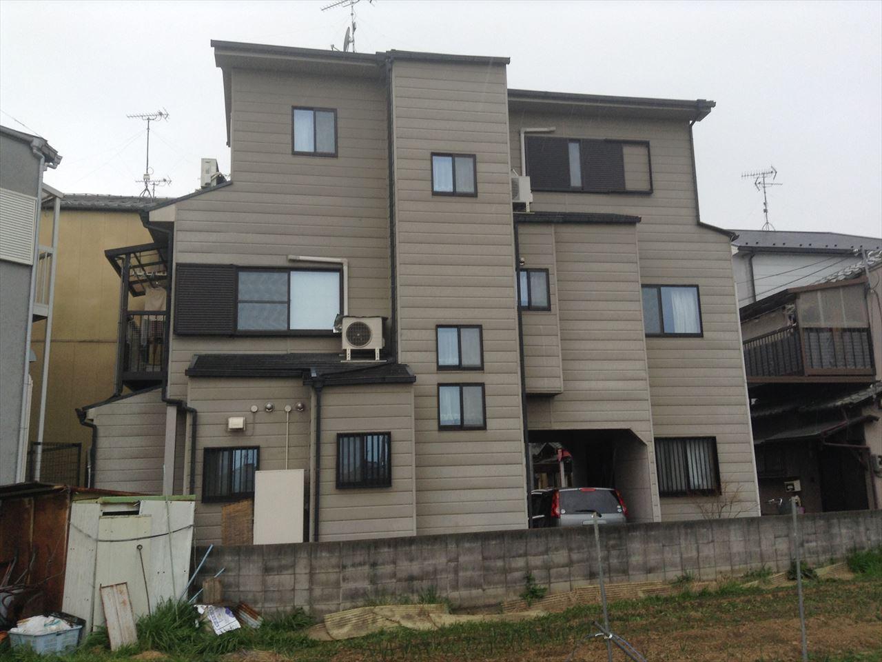 伏見区松田様邸外壁・屋根塗り替え工事の施工前写真その1