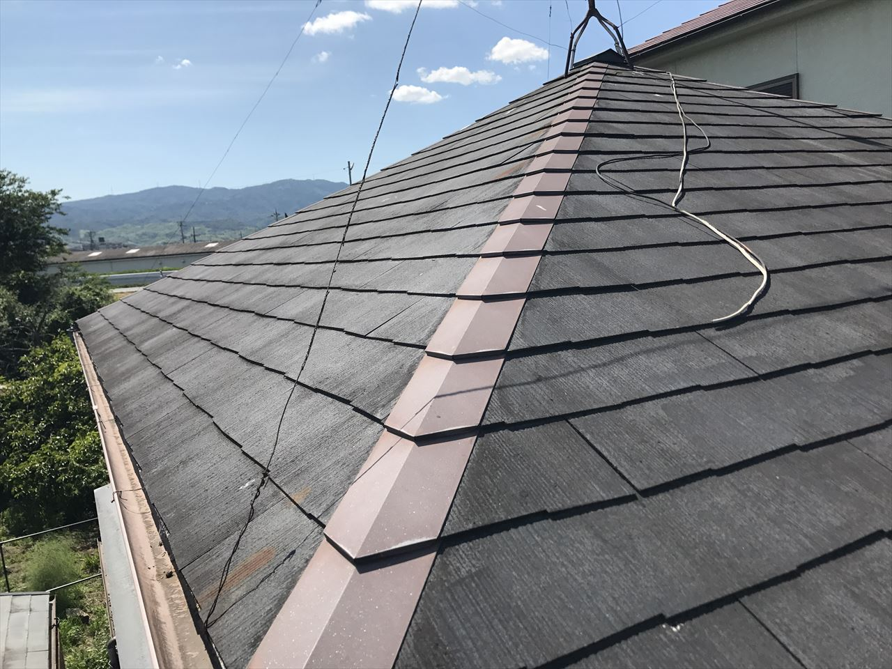 長岡京市井口様邸外壁・屋根塗り替え工事の施工前写真その1