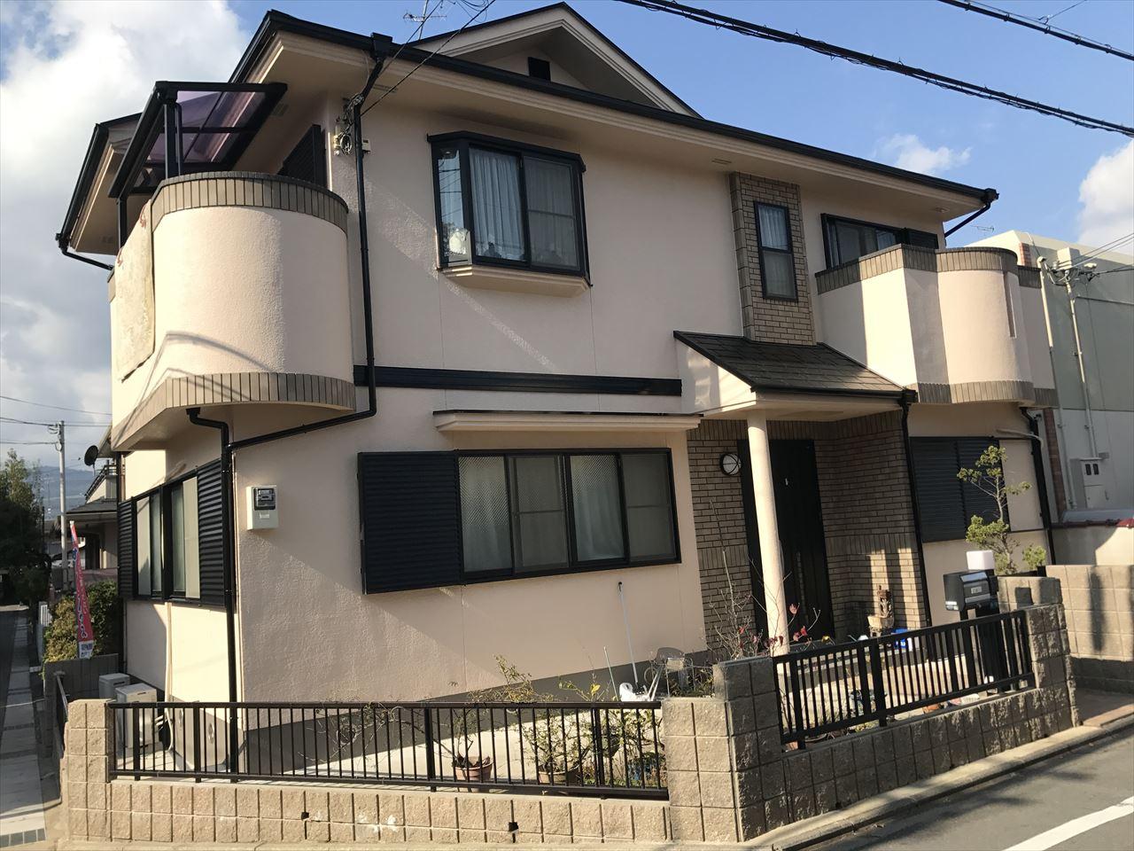 長岡京市辻様邸外壁・屋根塗り替え工事の施工後写真その2